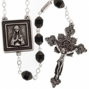 Rosario Ghirelli Nostra Signora di Lourdes 6 mm nero s1