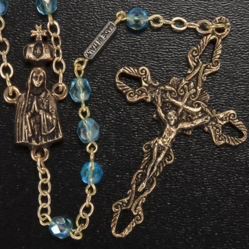 Rosario Ghirelli perline vetro azzurro Fatima 5 mm s2