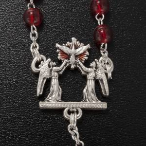 Rosario Ghirelli vetro Bohemia rosso Cresima 6 mm s4