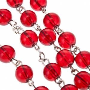 Rosario vetro rosso rubino Maria Miracolosa s3
