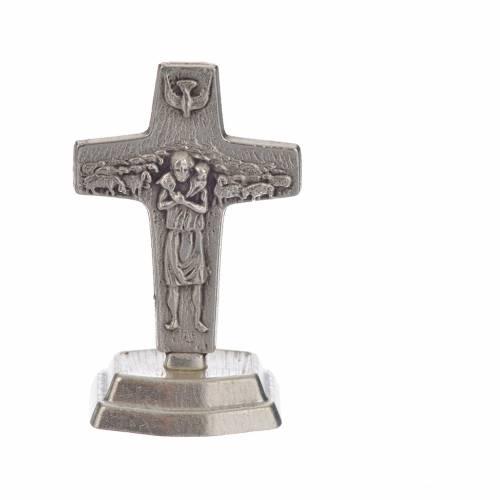 Rosario marrón y cruz Papa Francisco s5