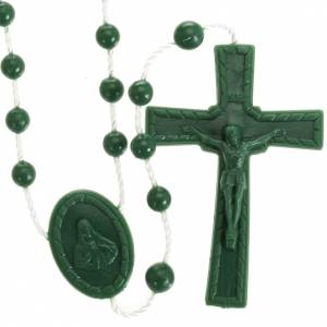 Rosari economici: Rosario nylon verde