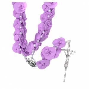 Rosarios y Porta Rosarios Medjugorje: Rosario para colgar Medjugorje rosas lilas