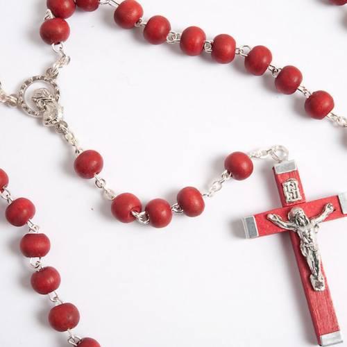 Rosario e croce profumato rosa s3