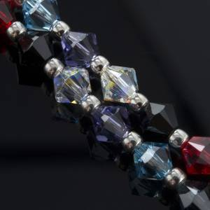 Rosary, 800 silver and swarovski, 4 colors s10