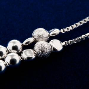 Rosary, 800 silver, sliding beads s2