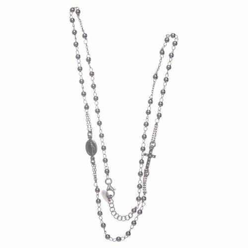 Rosary AMEN Necklace Pavè silver 925, Rhodium finish s3