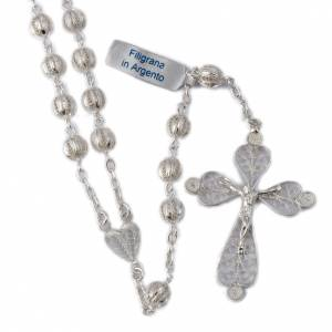 Silver rosaries: Rosary beads filigree in 800 silver 0,24in