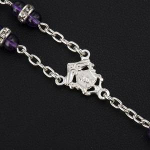 Rosary beads in 800 silver and amethyst s5