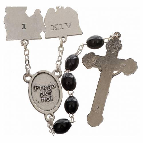 Rosary beads, stations of the cross, black s2