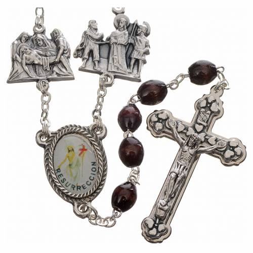 Rosary beads, stations of the cross in rosewood s1