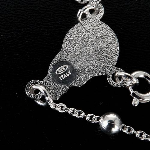 Rosary necklace in sterling silver 4-5mm s2