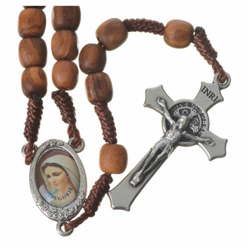 Rosary with grains in Medjugorje olive wood s1
