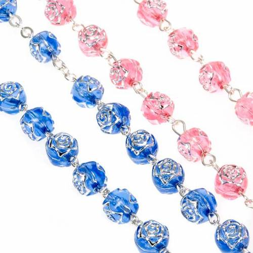 Rosary with rose-shaped beads s6