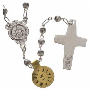 Silber Rosenkränze: Rosenkranz Papst Franziskus Silber 4mm