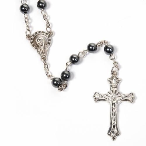 Round beads hematite rosary s3