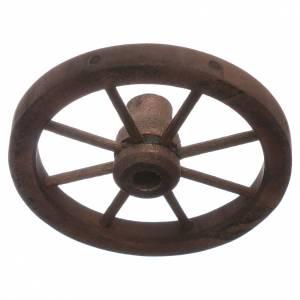 Ruota carro presepe diametro 7 cm legno s2