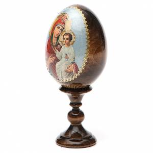 Russian painted eggs: Russian Egg Liberating Virgin découpage 13cm