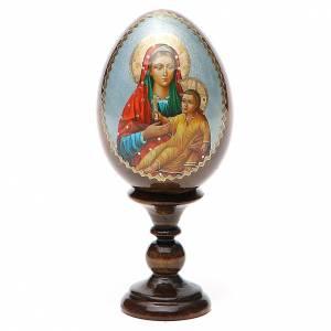 Russian Egg Mother of God Kozelshanskaya découpage 13cm s1