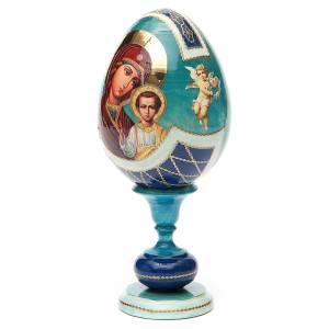 Russian Egg Our Lady of Kazan découpage, Fabergè style 20cm s2