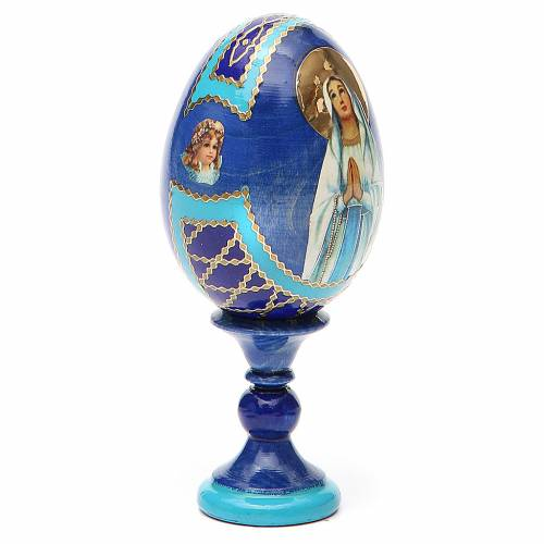 Russian Egg Our Lady of Lourdes Fabergè style 13cm s4