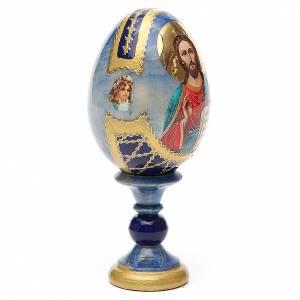 Russian Egg Pantocrator découpage Fabergè style 13cm s4