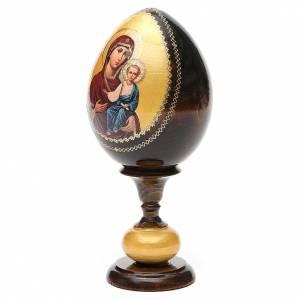 Russian Egg Smolenskaya Virgin découpage, Fabergè style 20cm s2