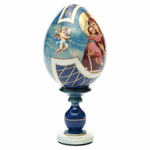 Russian Egg Theotokos of Vladimir découpage, Fabergè style 20cm s4