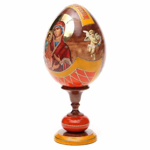 Russian Egg Three Hands Virgin découpage, Fabergè style 20cm s2