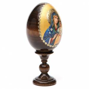 Russian Egg Virgin Mary white lily 13cm s4