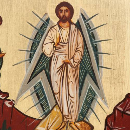 Russian painted icon, Transfiguration s2