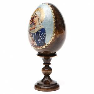 Handgemalte Russische Eier: Russische Ei-Ikone Schutz Gottesmutter 13cm Decoupage