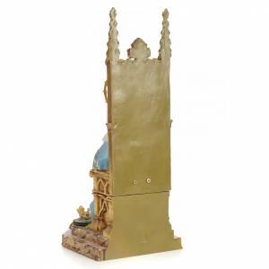 Sacré-Coeur de Marie sur trône 40 cm pâte bois finition supérieu s3
