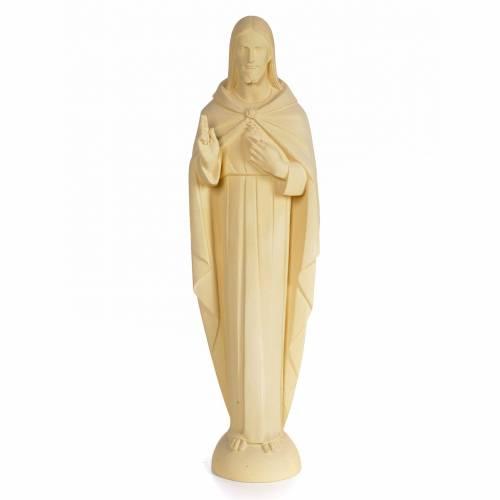 Sacré-Coeur Jésus 100 cm pâte à bois fin. sable s1