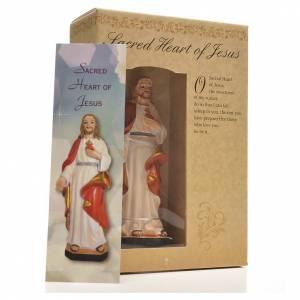 Sacré Coeur de Jésus 12cm image prière en Anglais s3