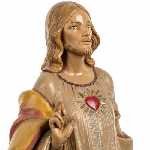 Sacré Coeur de Jésus 30 cm Fontanini finition bois s3