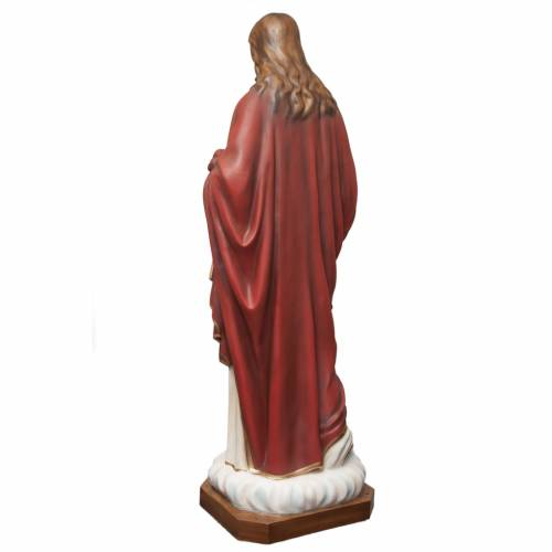 Sacred Heart of Jesus statue in painted fiberglass 165cm s6
