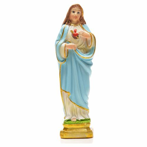 Sacred Heart of Mary 12cm with image and ENGLISH PRAYER s1