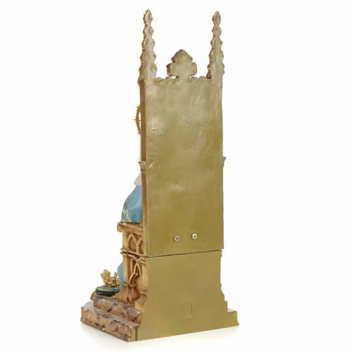 Sacro Cuore Maria in trono 40 cm pasta legno dec. superiore s3