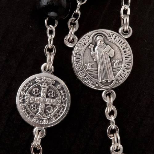 Saint Benedict rosary in coconut wood s3