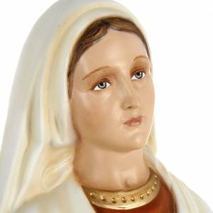 Saint Bernadette statue, 63cm in painted reconstituted marble s2