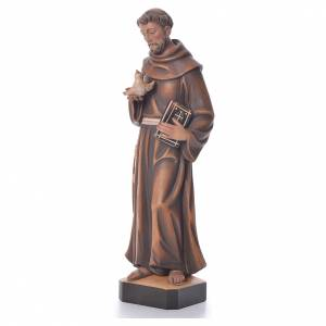 Hand painted wooden statues: Saint Francis statue