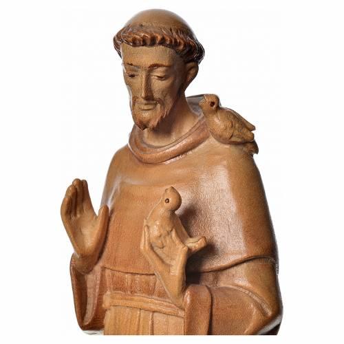 Saint François d'Assise bois Valgardena patiné multinuance s4