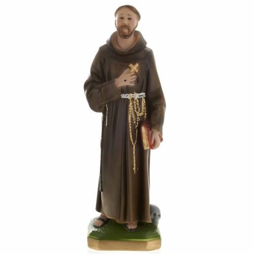 Saint François de Assisi plâtre 40 cm s1