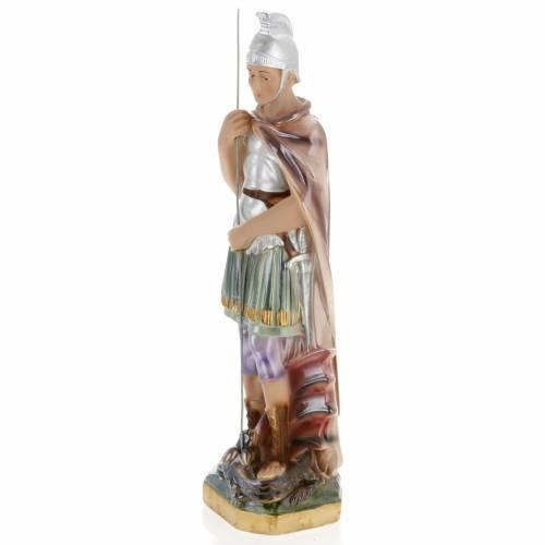 Saint George statue in plaster, 30 cm s4