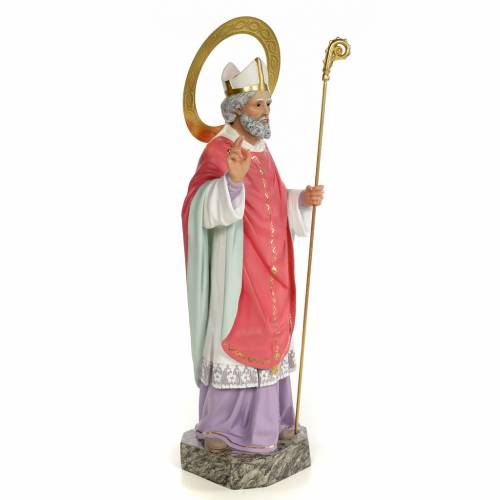 Saint Ildephonsus statue 60cm, wood paste, fine decoration s4