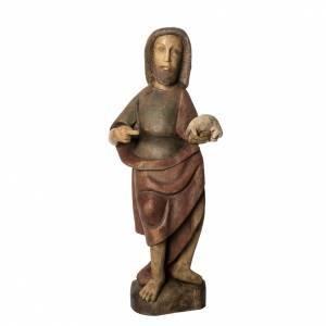 Saint Jean Baptiste 89 cm bois peint Bethléem s1