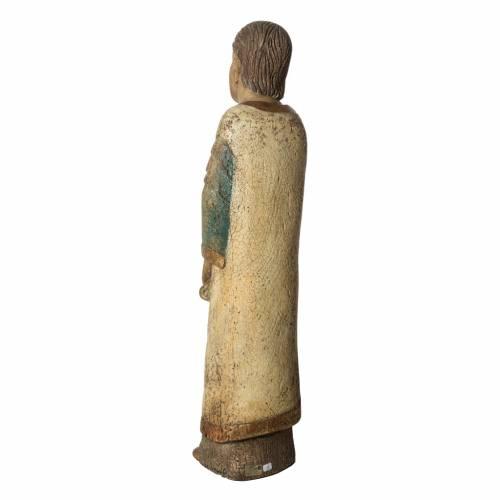 Saint John of Batllo statue, 78 cm in painted wood, Bethléem s4
