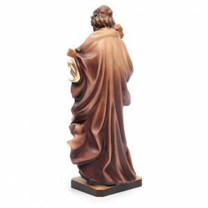 Saint Joseph avec Enfant bois coloré s4