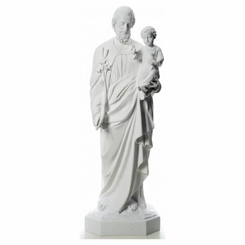 Saint Joseph statue in white fiberglass, 160 cm s1